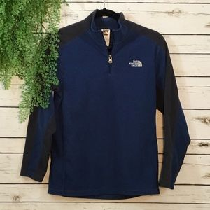 North face boys size L 14/16 jacket blue navy